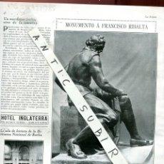 Coleccionismo de Revistas y Periódicos: REVISTA AÑO 1927 ESCULTOR ADSUARA FRANCISCO RIBALTA PINTOR DE CASTELLON DE LA PLANA. Lote 232922735
