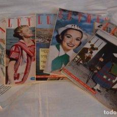 Coleccionismo de Revistas y Periódicos: AÑOS 50 / 5 REVISTAS -- LETRAS -- LA REVISTA DEL HOGAR - NÚM. 216/217/218/219/223 - ¡MIRA! LOTE 05. Lote 233095510