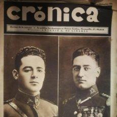 Coleccionismo de Revistas y Periódicos: REVSTA CRONICA (13 DICIEMBRE 1931) - ANIVERSARIO EJECUCIÓN DE GALÁN Y GARCÍA HERNÁNDEZ. Lote 233494215