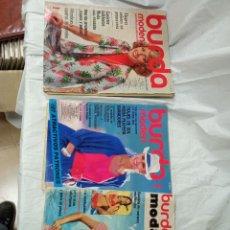 Coleccionismo de Revistas y Periódicos: 3 REVISTAS BURDA. Lote 233568485