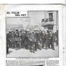 Coleccionismo de Revistas y Periódicos: 1904 REY ALFONSO XIII EN BCNA SANT ANDREU SABADELL SADURNI CODORNIU PALMA MALLORCA BELLVER CASTILLO. Lote 233815715