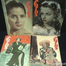 Coleccionismo de Revistas y Periódicos: LOTE DE 4 REVISTAS - FOTOS - JUANITA REINA - HOLLYWOOD. Lote 234049095