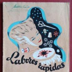Coleccionismo de Revistas y Periódicos: REVISTA DE BORDADOS. LABORES RAPIDAS. CON PATRONES. W. Lote 234099850
