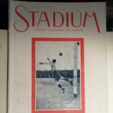 Collezionismo di Riviste e Giornali: REVISTA STADIUM 11 DE DICIEMBRE 1920 GUARDAMETA DEL ATHELTIC EN PORTADA. Lote 234560430