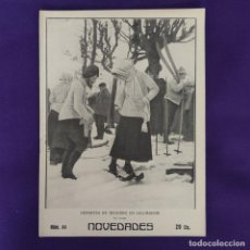 Coleccionismo de Revistas y Periódicos: REVISTA NOVEDADES. EDITADA EN SAN SEBASTIAN DE 1910 A 1913. Nº84. AÑO 1911. 28 PAGINAS. COMPLETO.. Lote 234574895