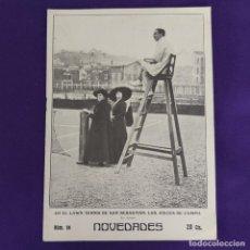Coleccionismo de Revistas y Periódicos: REVISTA NOVEDADES. EDITADA EN SAN SEBASTIAN DE 1910 A 1913. Nº94. AÑO 1911. 28 PAGINAS. COMPLETO.. Lote 234575485