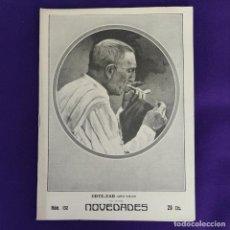 Coleccionismo de Revistas y Periódicos: REVISTA NOVEDADES. EDITADA EN SAN SEBASTIAN DE 1910 A 1913. Nº132. AÑO 1911. 36 PAGINAS. COMPLETO.. Lote 234576040