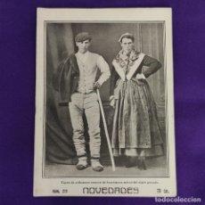 Coleccionismo de Revistas y Periódicos: REVISTA NOVEDADES. EDITADA EN SAN SEBASTIAN DE 1910 A 1913. Nº1219. AÑO 1913. 52 PAGINAS. COMPLETO.. Lote 234576425