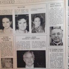 Coleccionismo de Revistas y Periódicos: ANA BELEN VICTOR MANUEL PALOMA SAN BASILIO MARLON BRANDO BO DEREK FRANCIS COPPOLA. Lote 234591240