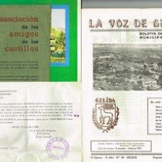 Coleccionismo de Revistas y Periódicos: LOT REVISTES DE GELIDA 8 LA VOZ DE GELIDA 1962 FESTA MAJOR 1970 VIDA PARROQUIAL 1969. Lote 234806860