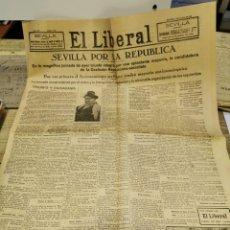 Collezionismo di Riviste e Giornali: PERIODICO EL LIBERAL, 14 ABRIL DE 1931, SEVILLA CON LA REPUBLICA, 6 PAGINAS. Lote 235073215