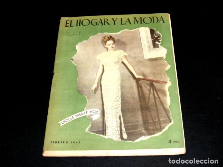 Coleccionismo de Revistas y Periódicos: REVISTA MENSUAL EL HOGAR Y LA MODA - AÑO 1948 COMPLETO - 12 NÚMEROS - VER FOTOS. - Foto 3 - 235113615