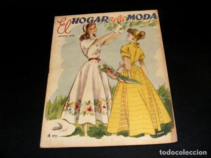 Coleccionismo de Revistas y Periódicos: REVISTA MENSUAL EL HOGAR Y LA MODA - AÑO 1948 COMPLETO - 12 NÚMEROS - VER FOTOS. - Foto 9 - 235113615