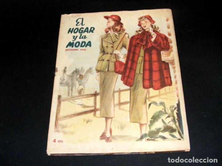 Coleccionismo de Revistas y Periódicos: REVISTA MENSUAL EL HOGAR Y LA MODA - AÑO 1948 COMPLETO - 12 NÚMEROS - VER FOTOS. - Foto 10 - 235113615