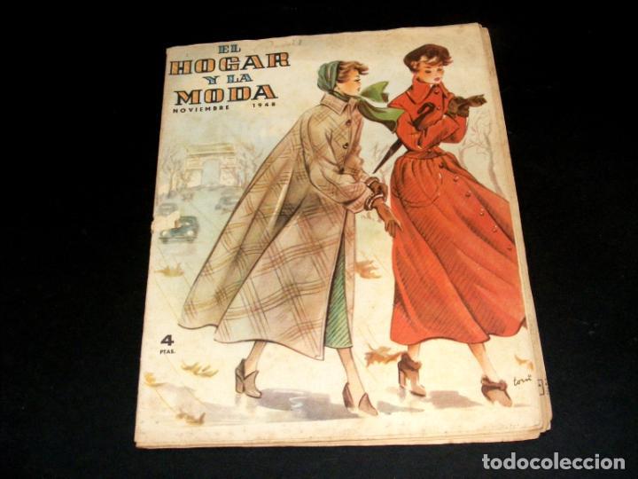 Coleccionismo de Revistas y Periódicos: REVISTA MENSUAL EL HOGAR Y LA MODA - AÑO 1948 COMPLETO - 12 NÚMEROS - VER FOTOS. - Foto 12 - 235113615