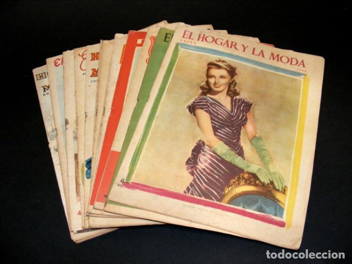 REVISTA MENSUAL EL HOGAR Y LA MODA - AÑO 1948 COMPLETO - 12 NÚMEROS - VER FOTOS. (Coleccionismo - Revistas y Periódicos Modernos (a partir de 1.940) - Otros)