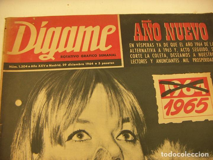 Coleccionismo de Revistas y Periódicos: Revista Dígame Nº 1304, 29 Dic 1964. Paquita Rico, María Francisca Caballer, Pablo Sorozábal - Foto 2 - 235153195