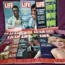 Coleccionismo de Revistas y Periódicos: LOTE DE 15 REVISTAS VINTAGE, LIFE EN ESPAÑOL, DE 1964, TEMAS INTERESANTES, GRAN FORMATO. Lote 235180810