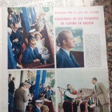 Coleccionismo de Revistas y Periódicos: FAMILIA REAL LOS REYES PRINCIPES EN GALICIA CON FRANCO. Lote 235202050