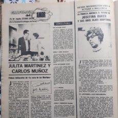 Coleccionismo de Revistas y Periódicos: JULITA MARTINEZ CARLOS MUÑOZ JOSEPHINE BAKER. Lote 235202270