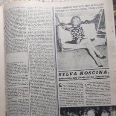 Coleccionismo de Revistas y Periódicos: SYLVA KOSCINA. Lote 235202285