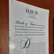 Coleccionismo de Revistas y Periódicos: PAULA ECHEVARRÍA. ACTRIZ. 8 PÁGINAS. ARTÍCUO EXTRAIDO DE LA REVISTA INSTYLE. GRAPA. BUEN ESTADO. Lote 235368030