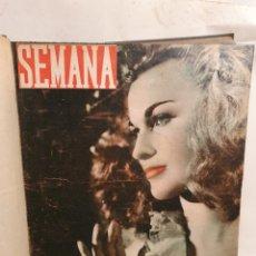 Coleccionismo de Revistas y Periódicos: REVISTA SEMANA, TOMO ENCUADERNADO AÑOS 40.. Lote 235384945