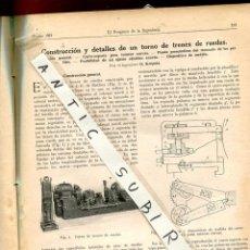 Coleccionismo de Revistas y Periódicos: REVISTA AÑO 1923 TORNO DE TRENES DE RUEDAS EL PROGRESO DE LA INGENIERIA. Lote 235439905