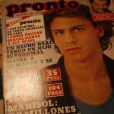 Coleccionismo de Revistas y Periódicos: PEDRO MARIN MARISOL ANTONIO FLORES ROM Y JERRY RAFFAELLA CARRA. Lote 235482220