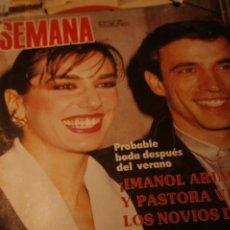 Coleccionismo de Revistas y Periódicos: IMANOL ARIAS MIGUEL BOSE PAQUIRRI MECANO SALVADOR DALI ROCIO DURCAL MARISOL SOPHIE MAREAU 1985. Lote 235486950