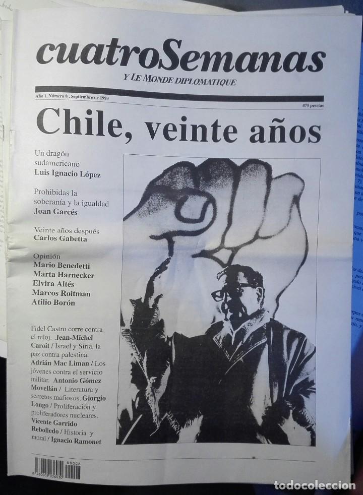 CUATRO SEMANAS Y LE MONDE DIPLOMATIQUE, N 8, SEPTIEMBRE 1993 (Coleccionismo - Revistas y Periódicos Modernos (a partir de 1.940) - Otros)