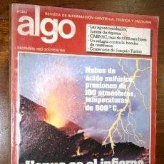 Coleccionismo de Revistas y Periódicos: ALGO: REVISTA DE INFORMACIÓN CIENTÍFICA, TÉCNICA Y CULTURAL / NÚMERO 382 DE DICIEMBRE EN 1982. Lote 235624875