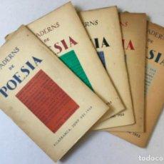 Coleccionismo de Revistas y Periódicos: QUADERNS DE POESIA. - [REVISTA.]. Lote 123270475