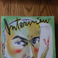 Coleccionismo de Revistas y Periódicos: REVISTA INTERVIEW ANDY WARHOL FRANCESCO CLEMENTE MARZO. 1988. Lote 235698030