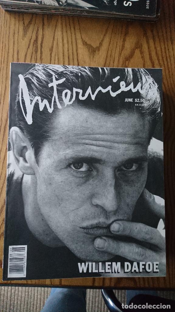 REVISTA INTERVIEW ANDY WARHOL WILLEM DAFOE ENERO 1988 (Coleccionismo - Revistas y Periódicos Modernos (a partir de 1.940) - Otros)
