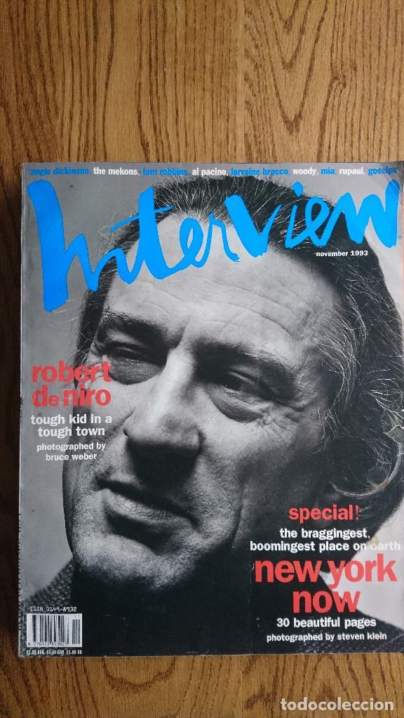 REVISTA INTERVIEW ANDY WARHOL ROBERT DE NIRO NOVIEMBRE. 1993 (Coleccionismo - Revistas y Periódicos Modernos (a partir de 1.940) - Otros)