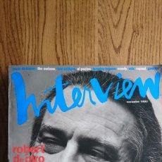 Coleccionismo de Revistas y Periódicos: REVISTA INTERVIEW ANDY WARHOL ROBERT DE NIRO NOVIEMBRE. 1993. Lote 235698315
