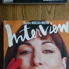Coleccionismo de Revistas y Periódicos: REVISTA INTERVIEW ANDY WARHOL ANJELICA HUSTON DICIEMBRE. 1990. Lote 235698345