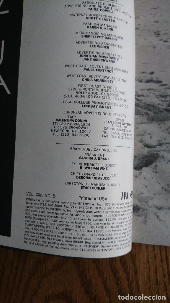 Coleccionismo de Revistas y Periódicos: Revista Interview Andy Warhol LEGENDARY LOVE Mayo. 1993 - Foto 2 - 235698405