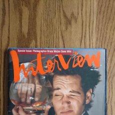 Coleccionismo de Revistas y Periódicos: REVISTA INTERVIEW ANDY WARHOL PAUL RUDD MAYO. 2000. Lote 235698635