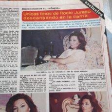 Collectionnisme de Revues et Journaux: RECORTE DIEZ MINUTOS AÑO 1980. ROCIO JURADO. Lote 235713970