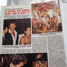 Collectionnisme de Revues et Journaux: RECORTE DIEZ MINUTOS AÑO 1987. MISS REINA DE EUROPA 1987.. Lote 235720045