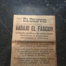 Coleccionismo de Revistas y Periódicos: GUERRA CIVIL - EL DILUVIO DIARIO REPUBLICANO MIERCOLES 22 DE JULIO 1936 ¡¡ABAJO EL FASCIO !! ESPAÑA. Lote 235797250