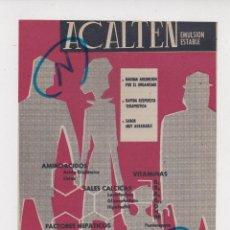 Coleccionismo de Revistas y Periódicos: PUBLICIDAD 1961. ANUNCIO MEDICAMENTO ACALTEN. MORRITH. Lote 235848810