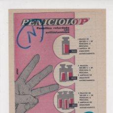 Coleccionismo de Revistas y Periódicos: PUBLICIDAD 1961. ANUNCIO MEDICAMENTO PENICIOLO P. MORRITH. Lote 235849320