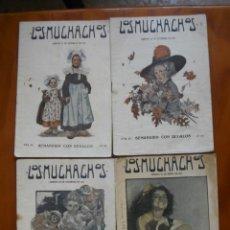 Coleccionismo de Revistas y Periódicos: LOTE DE 28 NUMEROS DE - LOS MUCHACHOS -SEMANARIO DE LOS AÑOS 1915 Y 1917. Lote 235851825