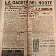 Coleccionismo de Revistas y Periódicos: LA GACETA DEL NORTE, N 13.082 1943 VIERNES 9 DE JULIO ,BILBAO,SEGUNDA GUERRA MUNDIAL. Lote 235873845
