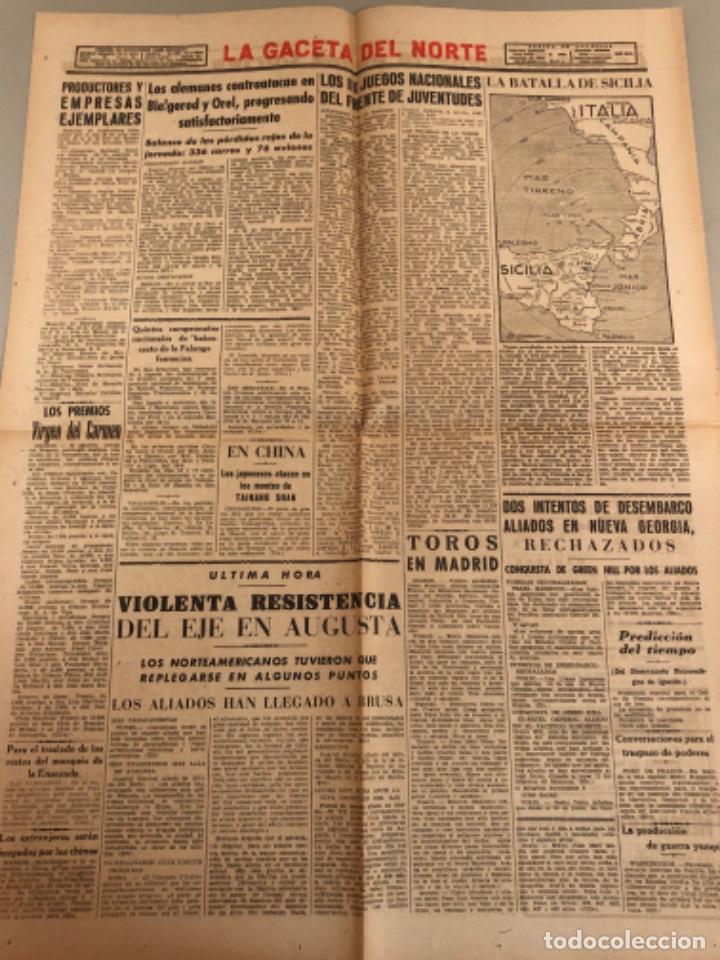 Coleccionismo de Revistas y Periódicos: La gaceta del Norte, N 13.988 1943 Viernes 16 de julio ,Bilbao,Segunda guerra mundial - Foto 2 - 235875035