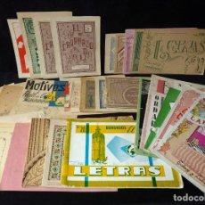 Coleccionismo de Revistas y Periódicos: GRAN LOTE DE CUADERNILLOS, PATRONES MANTELERIAS. PUNTO DE CRUZ, BORDADO, ETC.. Lote 235887510