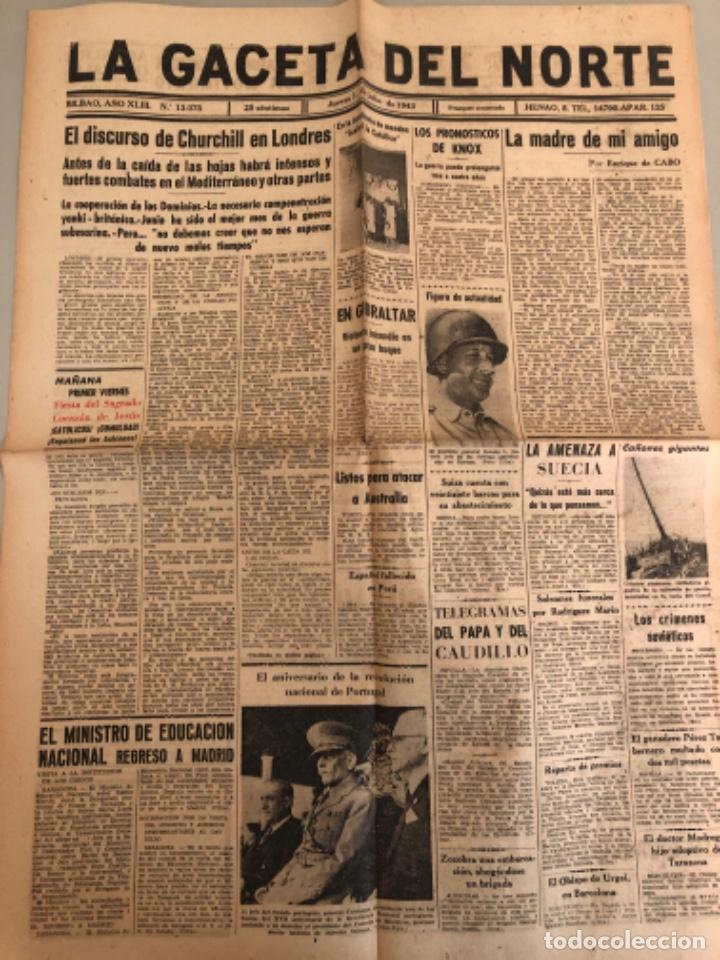 LA GACETA DEL NORTE, N 13.076 ,1943 VIERNES 2 DE JULIO ,BILBAO,SEGUNDA GUERRA MUNDIAL (Coleccionismo - Revistas y Periódicos Modernos (a partir de 1.940) - Otros)
